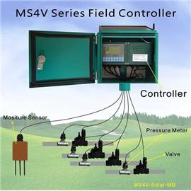 Wireless, Solar powered 4 valves field controller